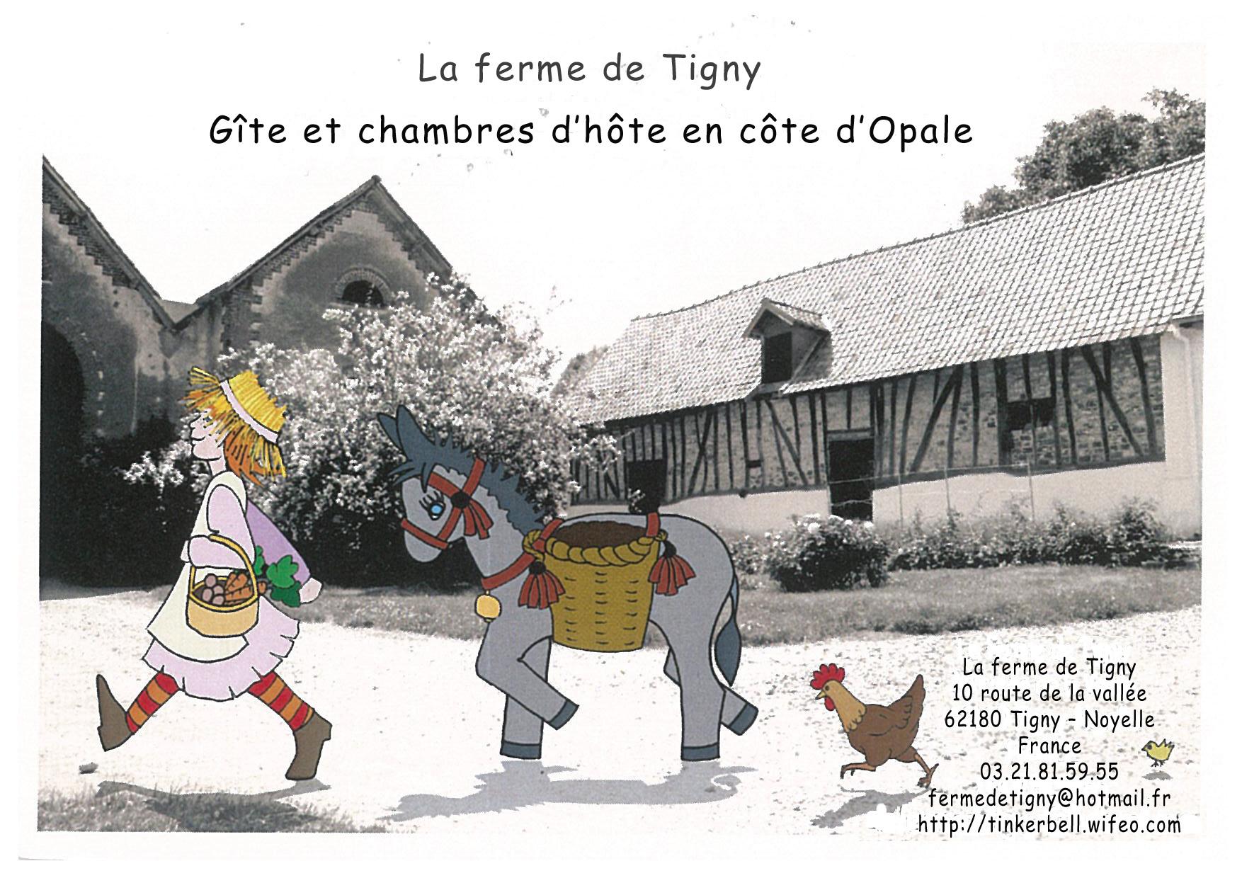 Carte de visite - La Ferme De Tigny